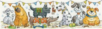 Dog Show from  Karen Carter Collection Cross Stitch Kit